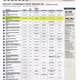 Valley Construction Project 2018